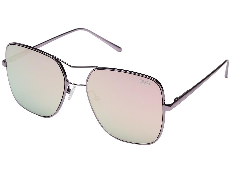 QUAY AUSTRALIA Stop and Stare (Pink/Pink) Fashion Sunglasses