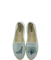 Soludos - Peacock Embroidered Smoking Slipper