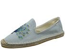 Soludos Peacock Embroidered Smoking Slipper