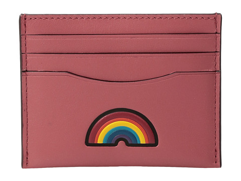 COACH Box Program Embosssed Leather Flat Card Case