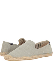 Soludos - Striped Linen Smoking Slipper