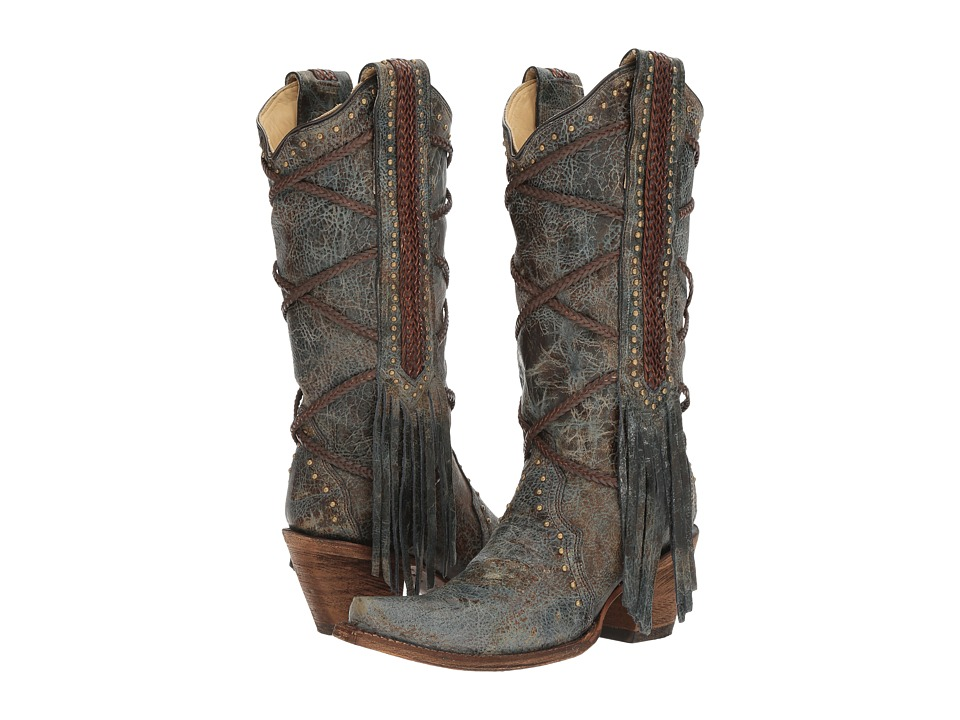 Corral Boots - A3147 (Blue/Brown) Womens Boots