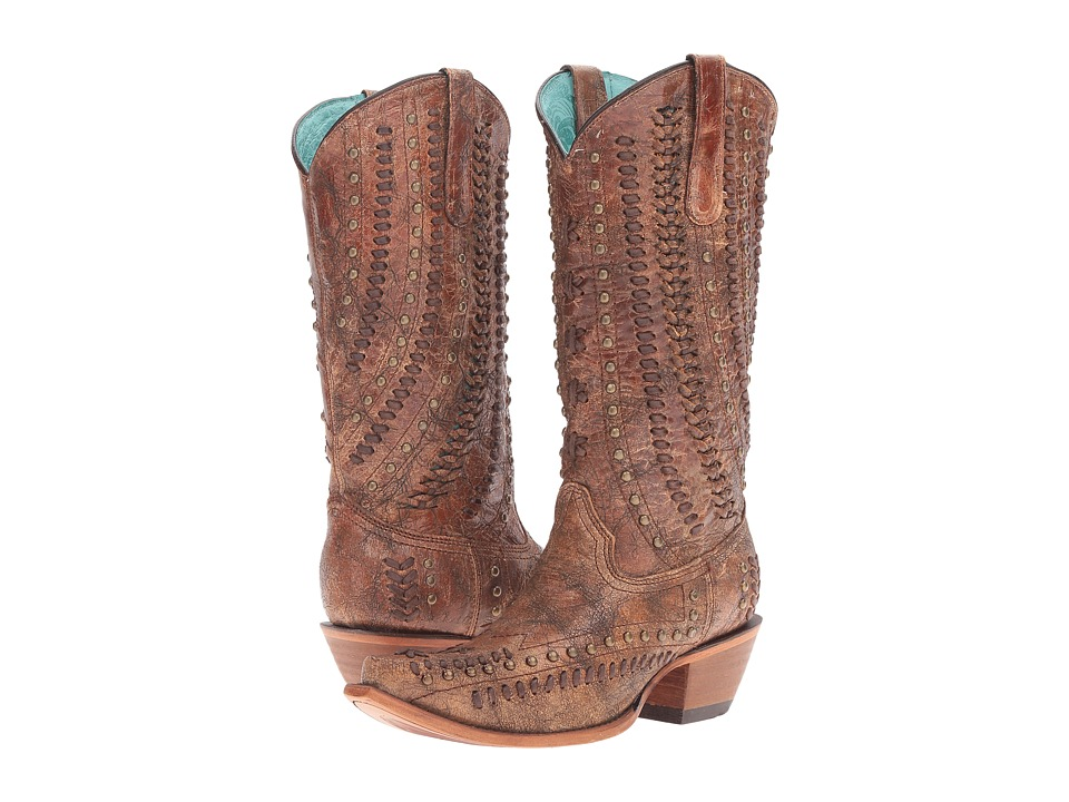 Corral Boots - C3004 (Cognac/Brown) Women's Boots