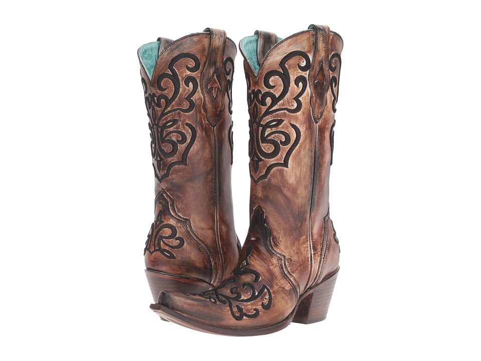 Corral Boots - C3009 (Brown/Bronze) Womens Boots