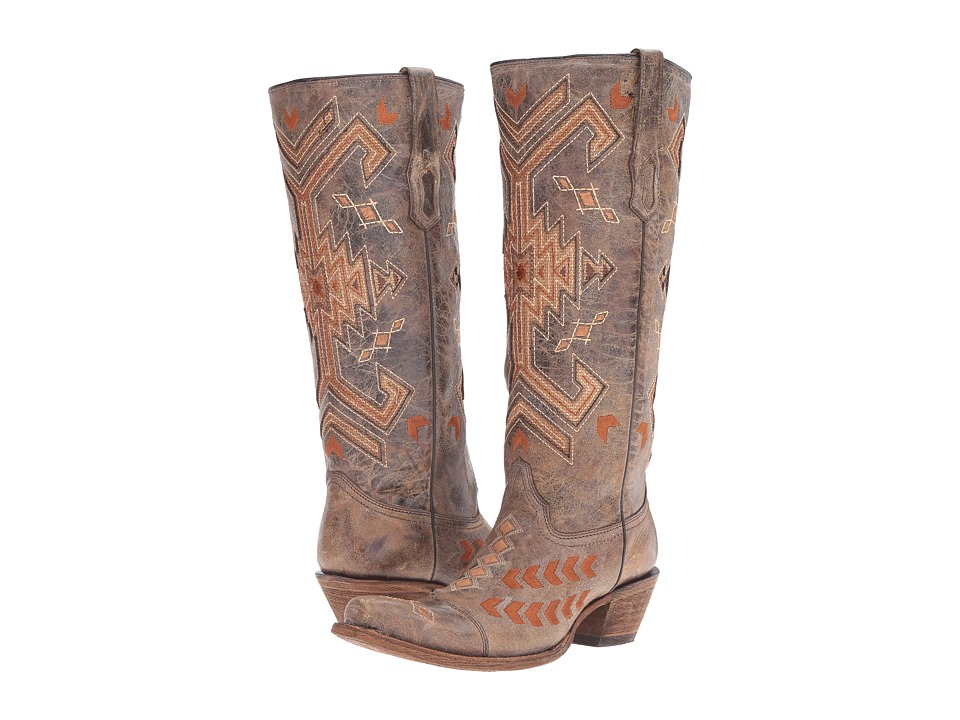 Corral Boots - A3163 (Brown/Multicolor) Womens Boots