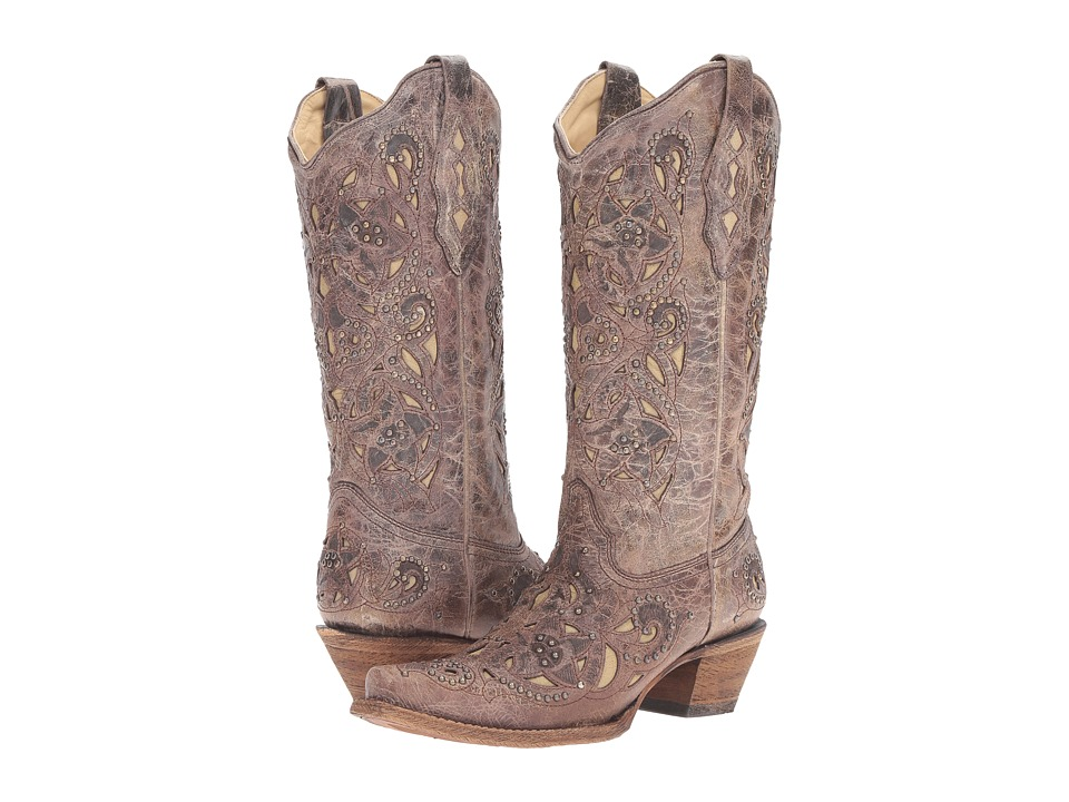 Corral Boots - A1098 (Brown/Crater Bone) Womens Boots