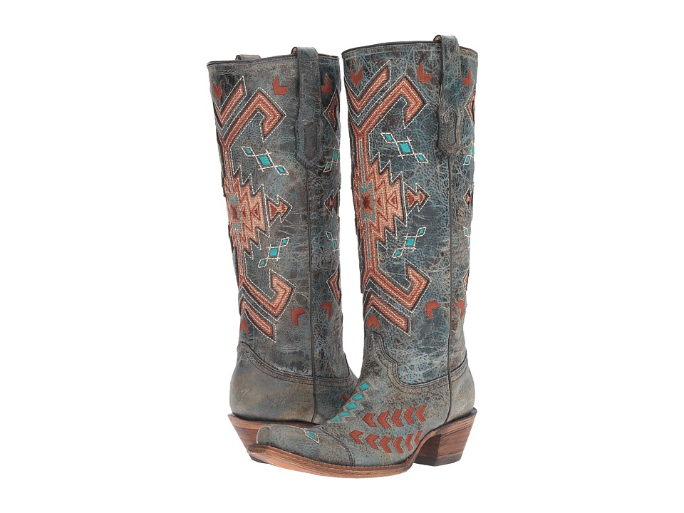 Corral Boots - A3164 (Black/Multicolor) Womens Boots