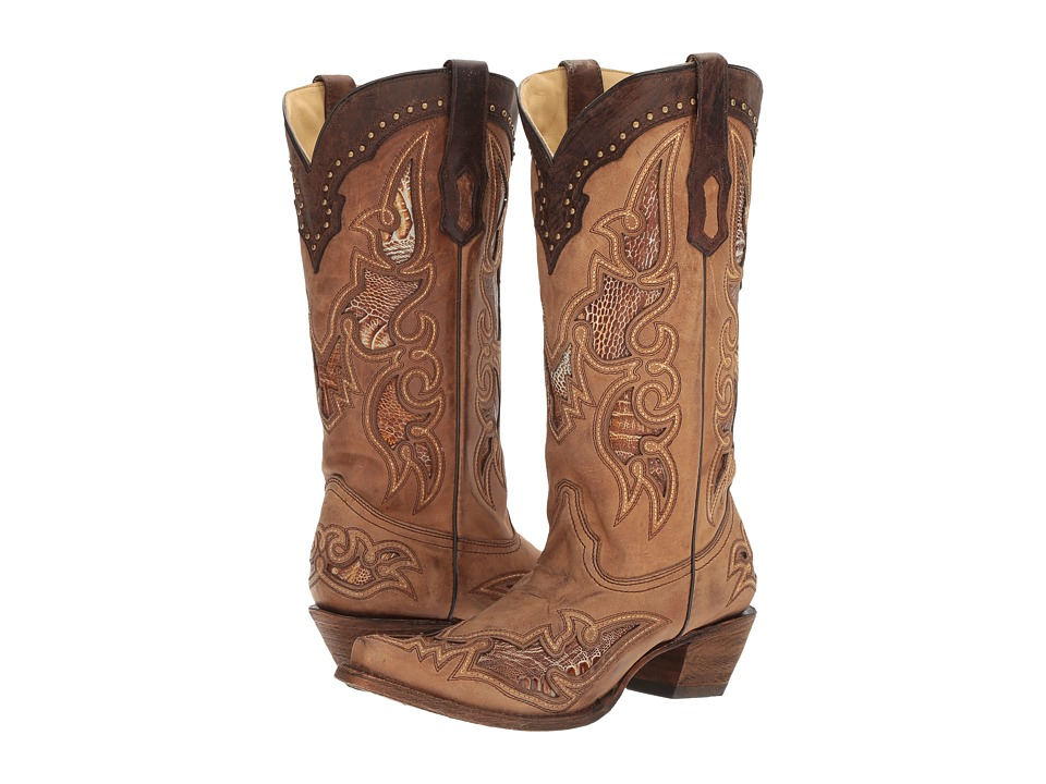 Corral Boots - A2964 (Antique Saddle/Brown) Womens Boots