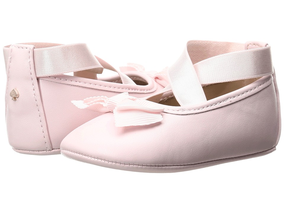 Kate Spade New York Kids Ballet Slipper with Bow (Infant/Toddler) (Valentine Pink) Girls Shoes
