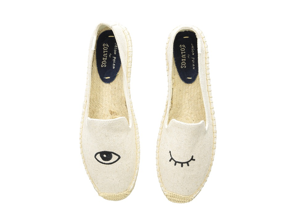 Soludos Wink Embroidery SM Slipper (Wink Sand) Slip-On Shoes