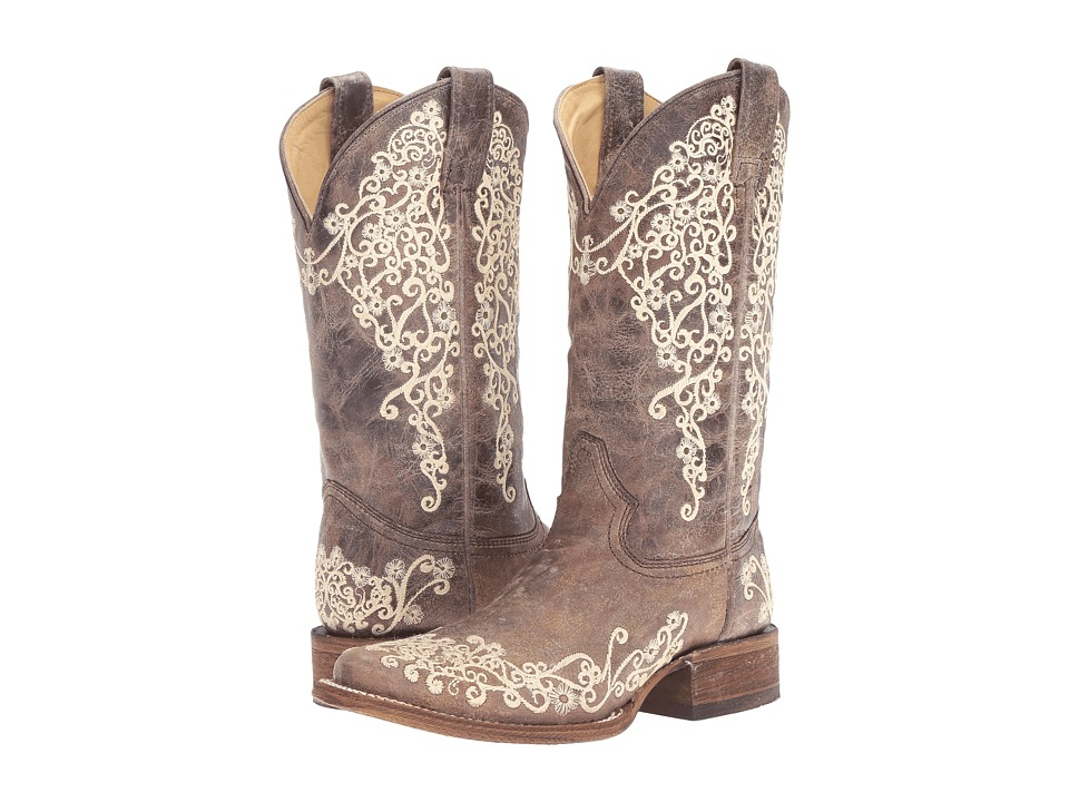Corral Boots - A2663 (Brown/Crater Bone) Womens Boots