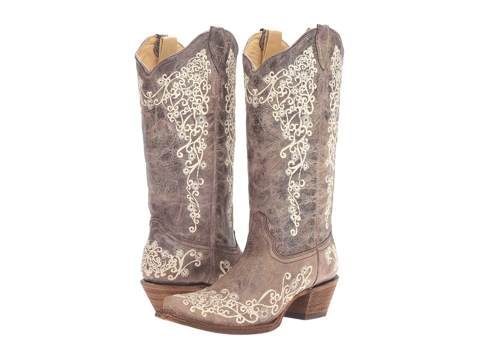 Corral Boots - A1094 (Brown/Crater Bone) Womens Boots