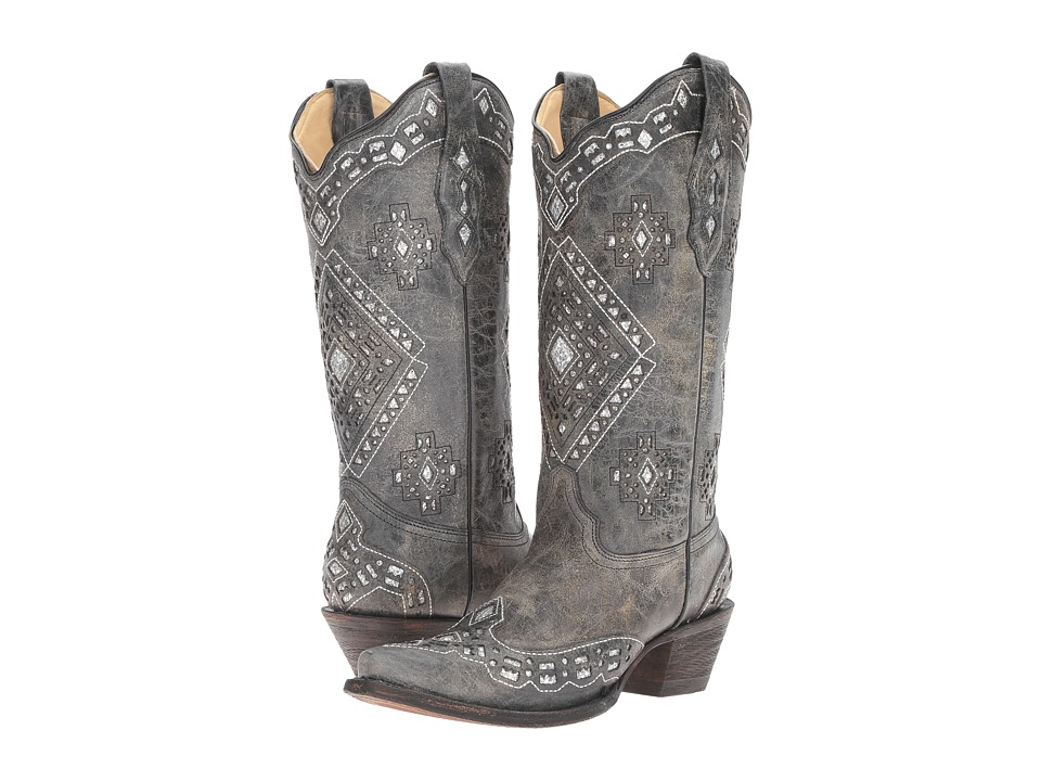 Corral Boots A2963 (Black/Silver)
