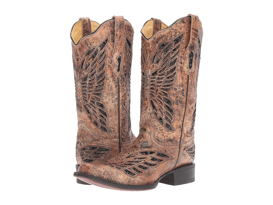 Corral Boots - R1226 (Black/Bronze) Womens Boots