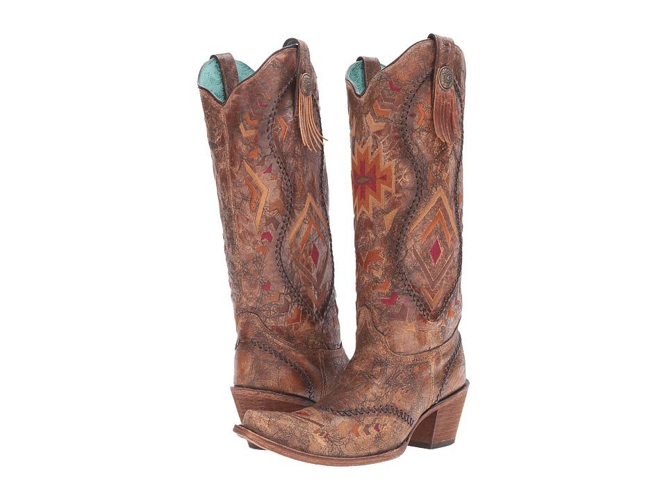 Corral Boots C2872 (Cognac/Multicolor) Women