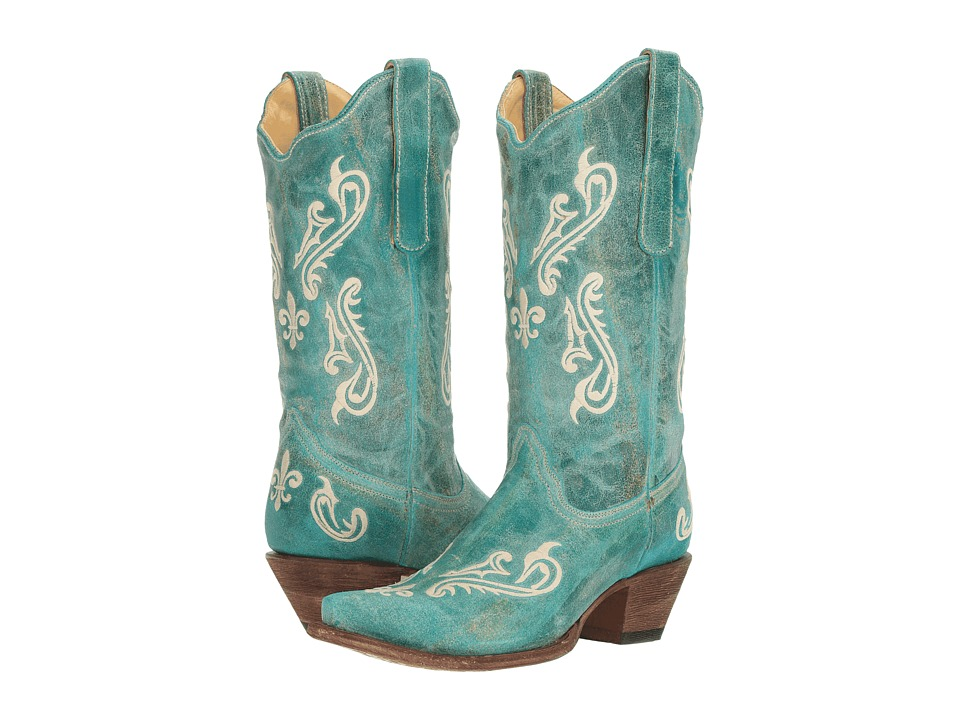 Corral Boots - R1973 (Turquoise) Womens Boots