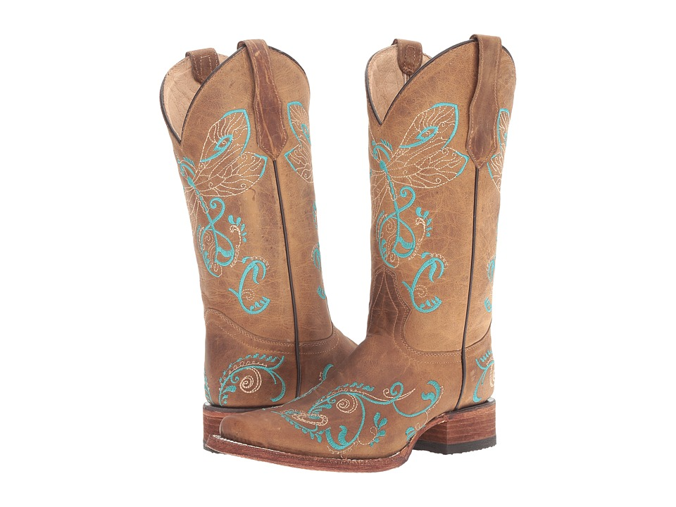 Corral Boots L5123 (Tan/Turquoise) Women