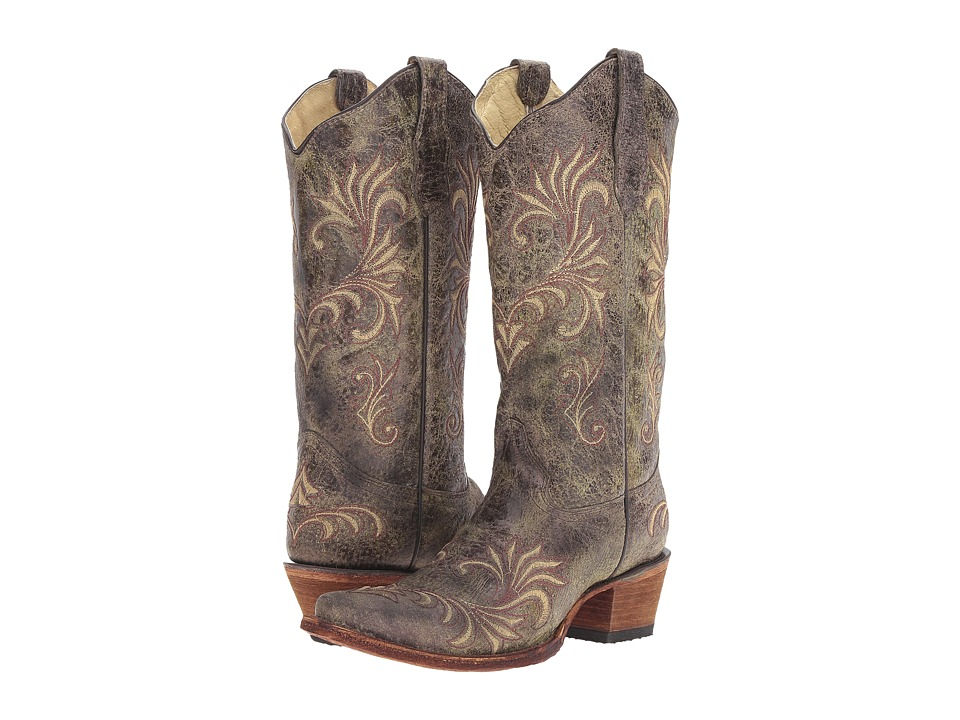 Corral Boots - L5133 (Green/Beige) Womens Boots