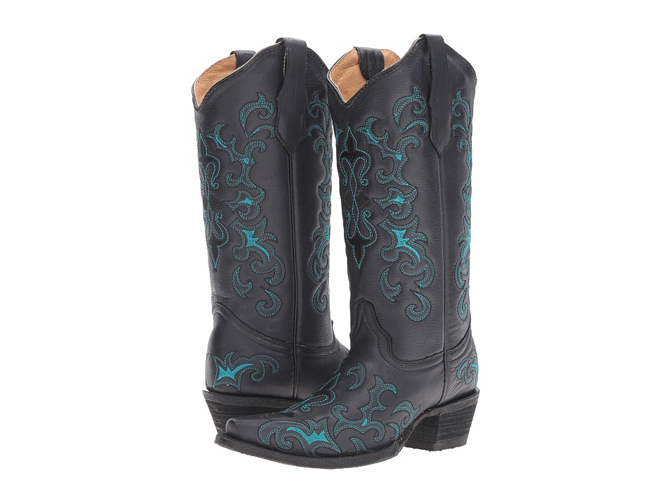 Corral Boots - L5150 (Black/Blue) Womens Boots