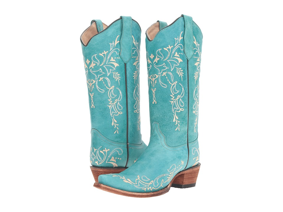 Corral Boots - L5148 (Turquoise/Beige) Womens Boots