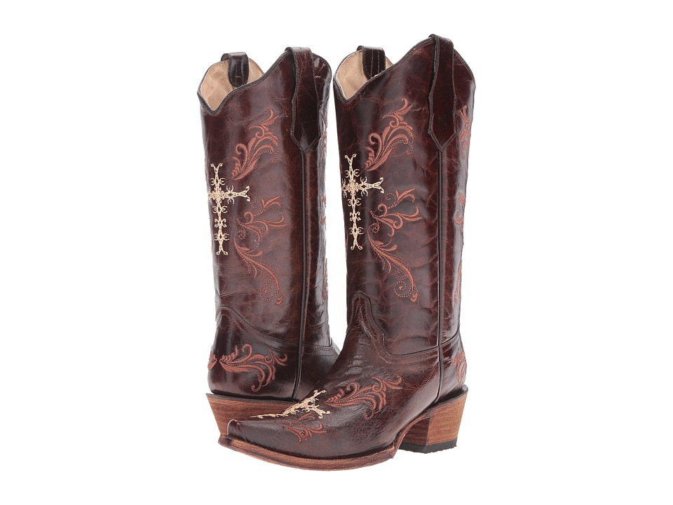 Corral Boots - L5039 (Chocolate/Cognac) Womens Boots