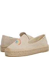 Soludos - Rainbow Embroidered Platform Smoking Slipper