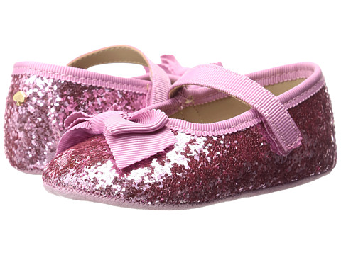 Kate Spade New York Kids Glitter Mary Jane with Bow (Infant/Toddler) - Cotton Candy