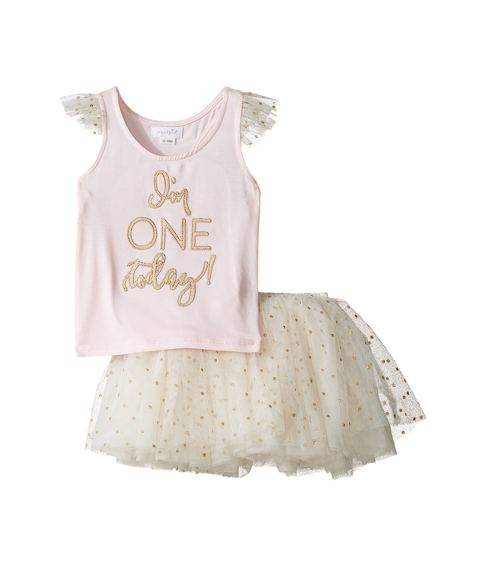 Mud Pie - One Tutu Skirt Set (Infant) (Pink) Girl's Activ...