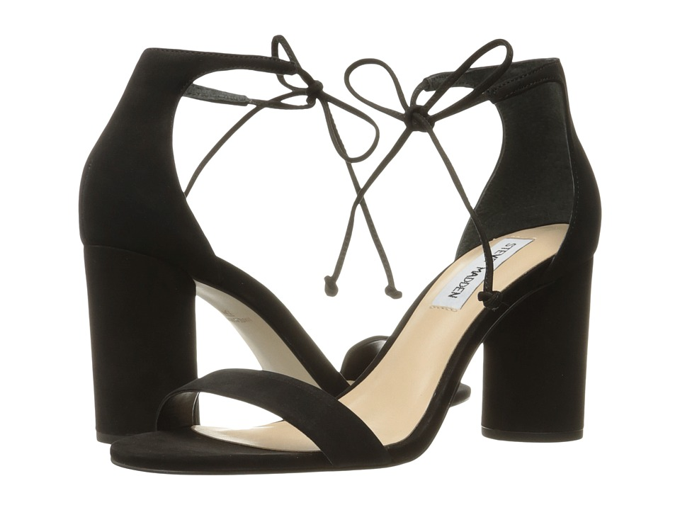 Steve Madden-Shays  (Black Nubuck) High Heels