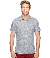Perry Ellis - Short Sleeve Linen Paisley Shirt