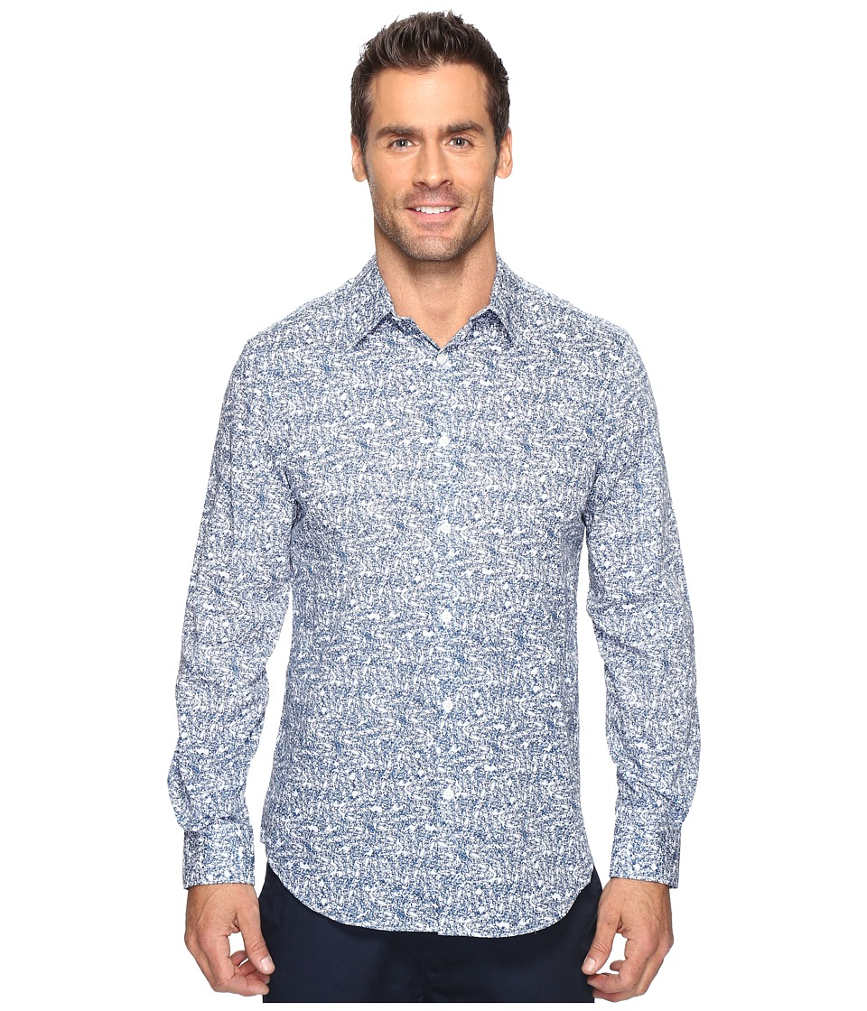 Perry Ellis Linear Texture Print Shirt (Faience) Men