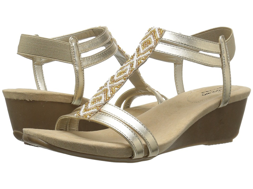 Bandolino Hippo (Soft Gold Metallic Nappa Synthetic) Women