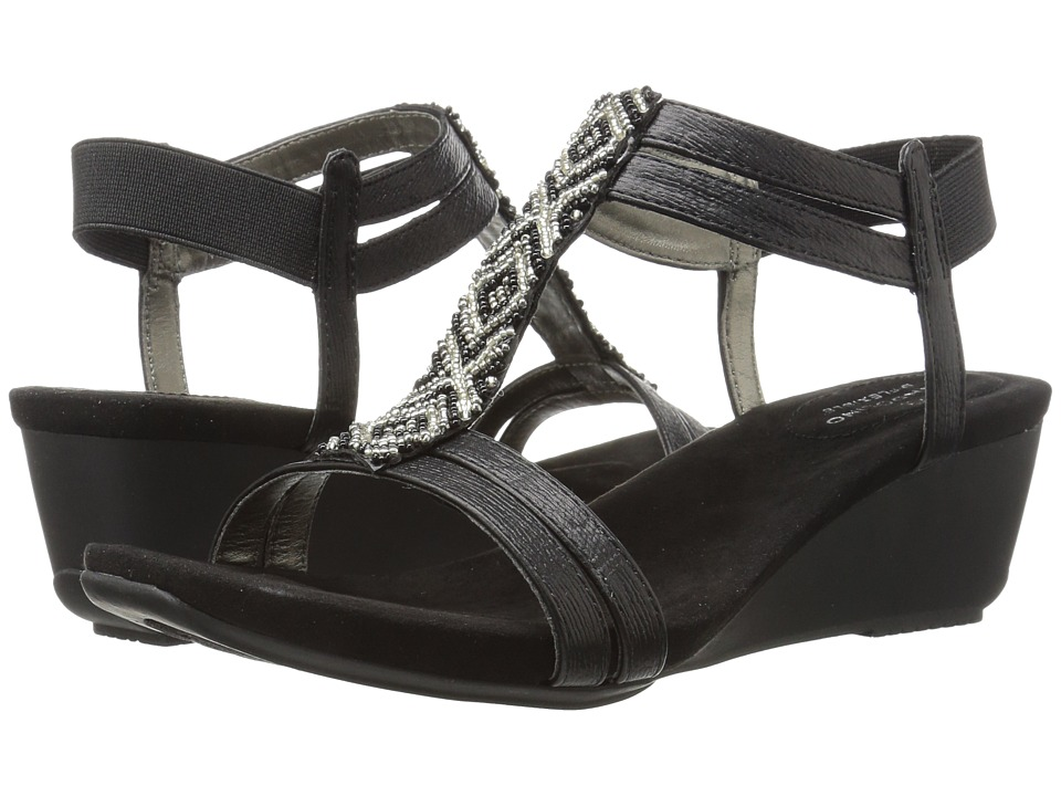 Bandolino Hippo (Black Metal Sardine/Sleek Elastic) Women