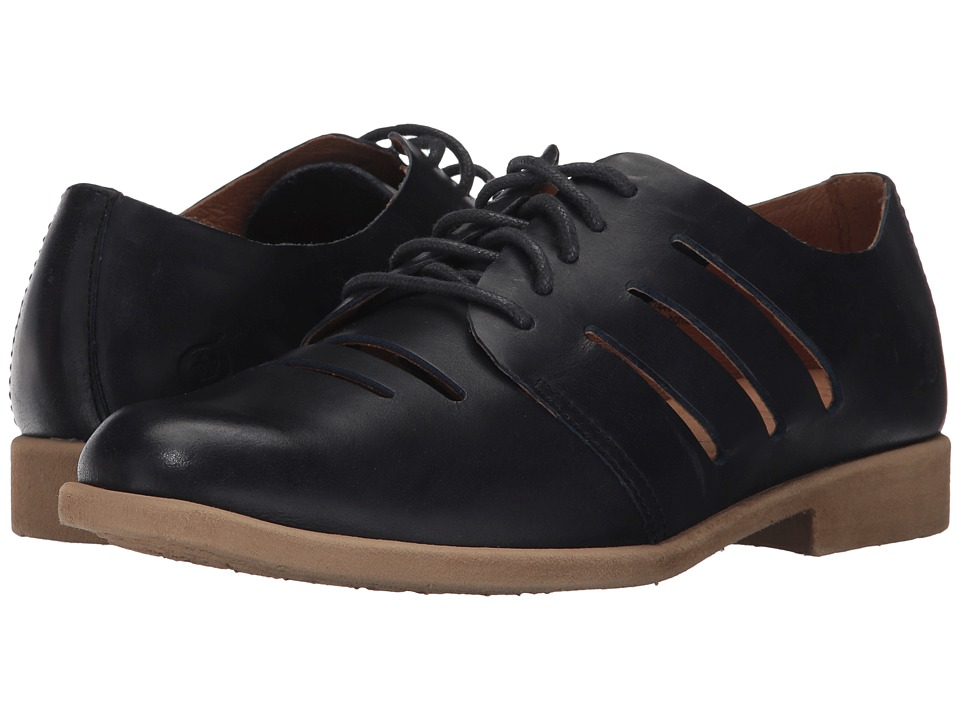 Vintage Style Shoes, Vintage Inspired Shoes Born - Jakob Navy Full Grain Leather Womens Shoes $100.00 AT vintagedancer.com