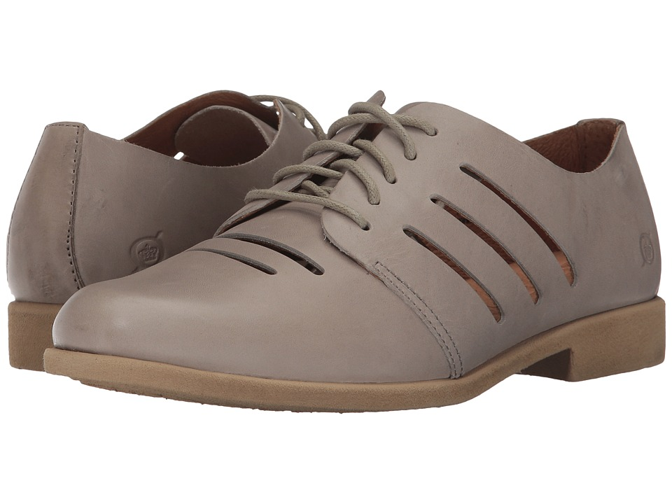 1930s Style Shoes Born - Jakob Light Grey Full Grain Leather Womens Shoes $100.00 AT vintagedancer.com