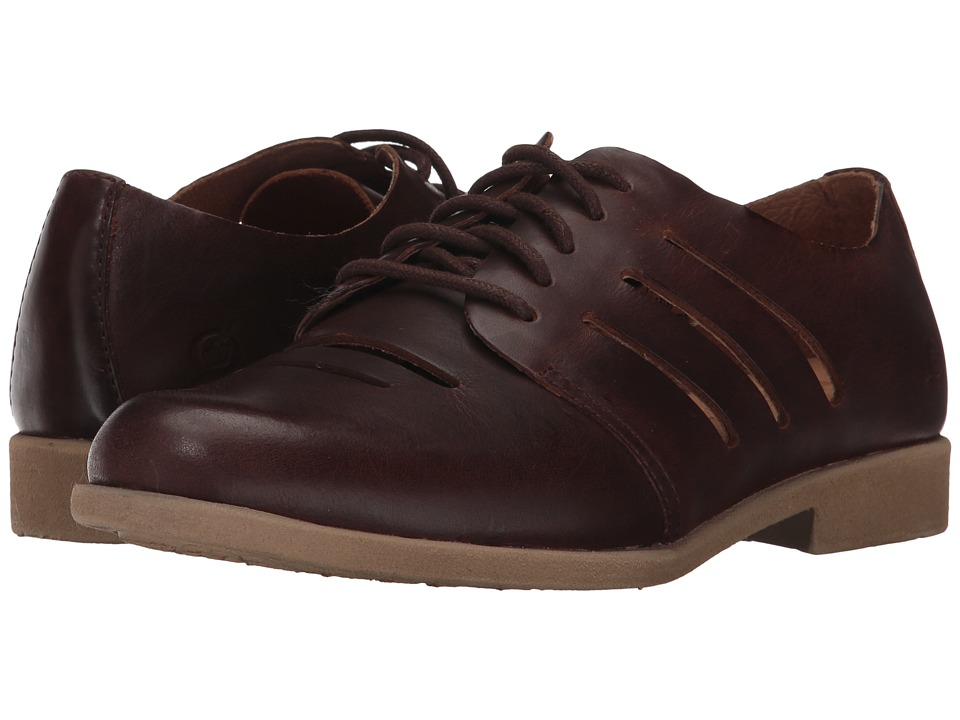 1930s Style Shoes Born - Jakob Brown Full Grain Leather Womens Shoes $89.99 AT vintagedancer.com