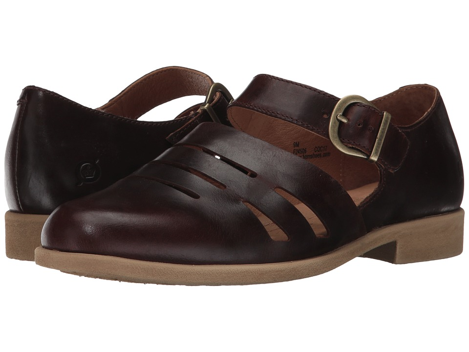 Vintage Style Sandals – 1930s, 1940s, 1950s, 1960s Born - Jane Brown Full Grain Leather Womens Shoes $95.00 AT vintagedancer.com