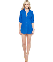 Tommy Bahama - Crinkle Boyfriend Shirt Cover-Up