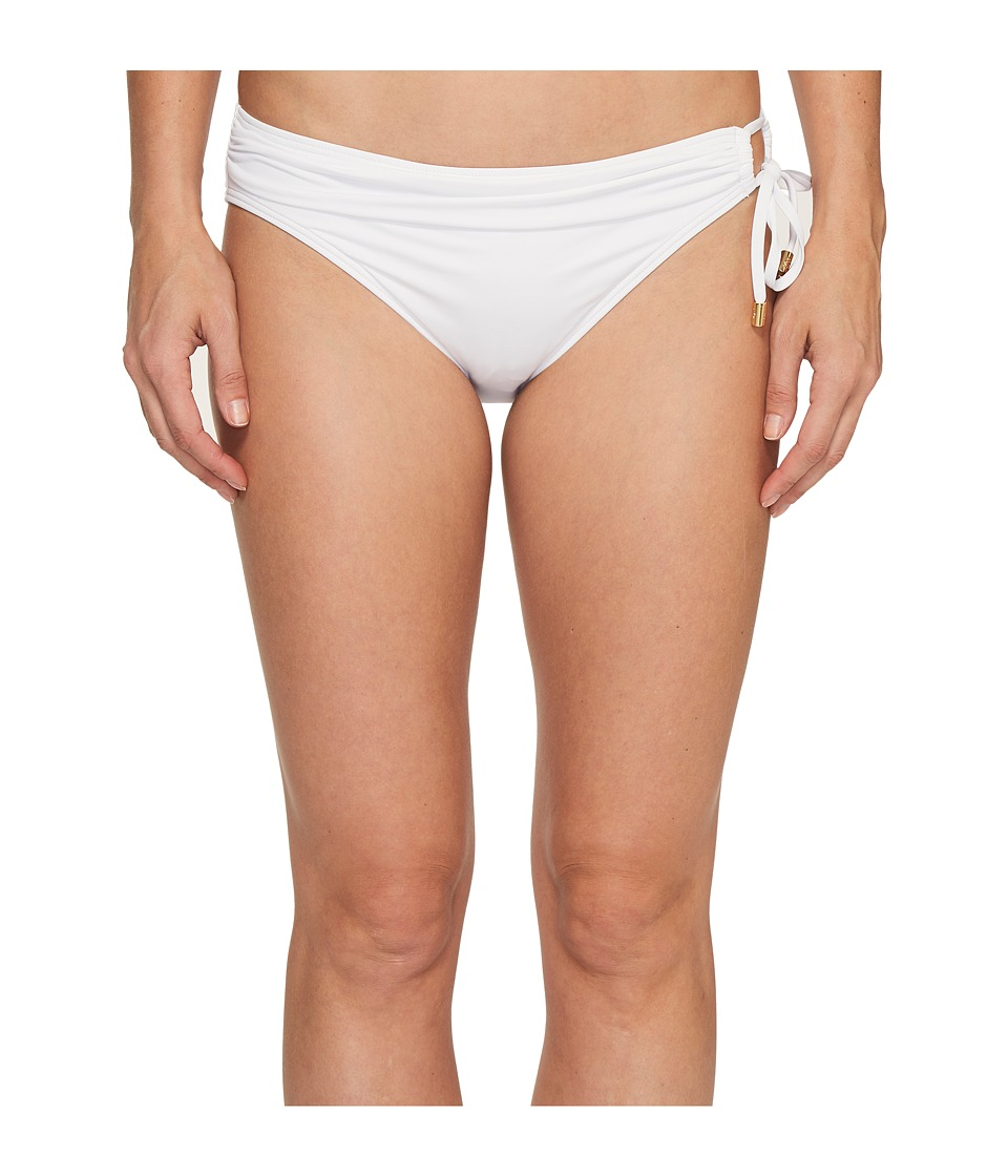 Tommy Bahama Pearl Hipster Bikini Bottom with Ring (White)