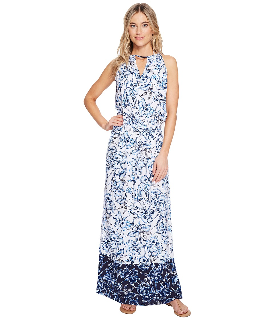 Tommy Bahama Sketchbook Blossoms Maxi Dress Cover-Up (Mare Navy)