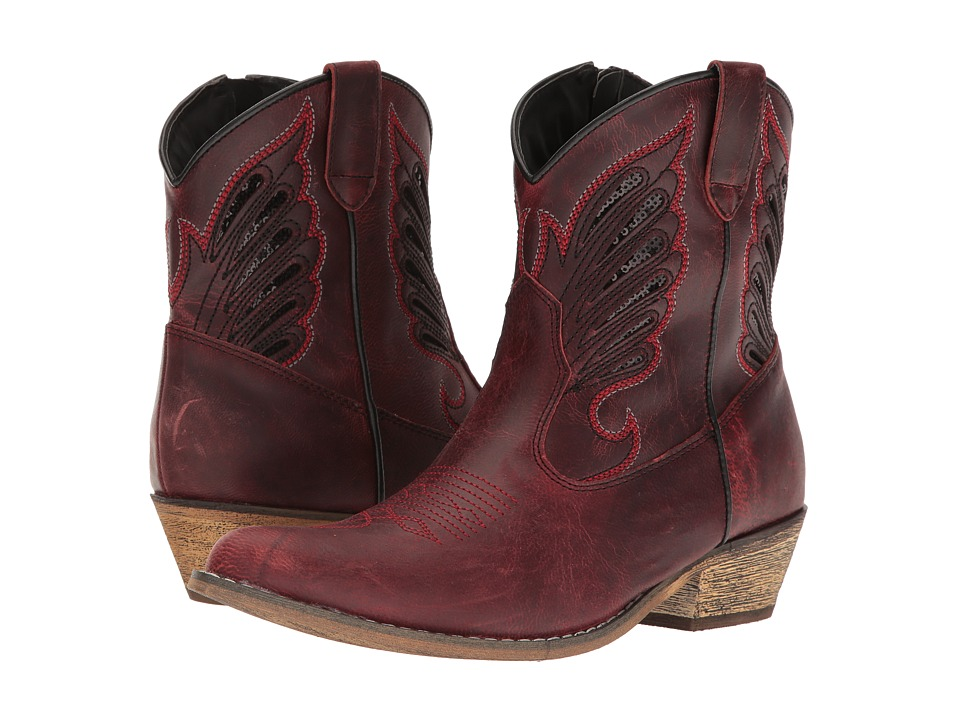 Dingo Flat Bush (Red) Cowboy Boots
