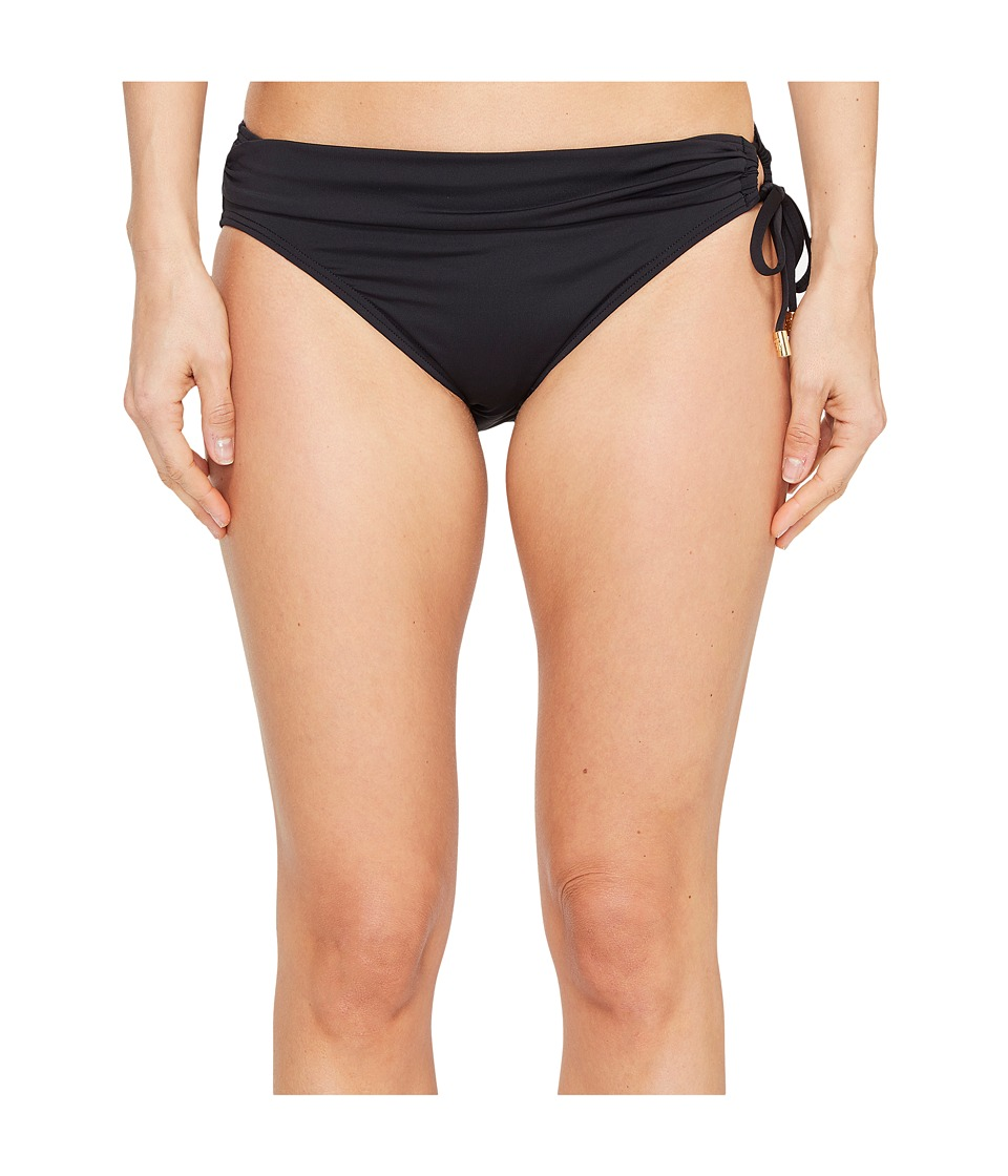 Tommy Bahama Pearl Hipster Bikini Bottom with Ring (Black...