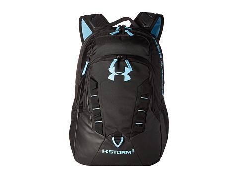 Under Armour UA Recruit Backpack - Black/Black/Blue Infinity