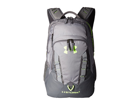 Under Armour UA Recruit Backpack - Steel/Graphite/Quirky Lime