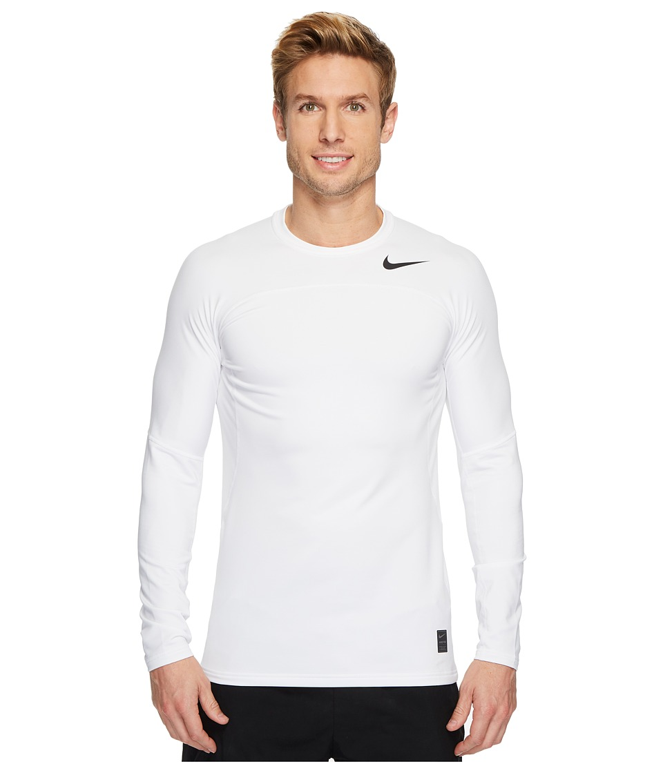Nike Pro Hyperwarm Long Sleeve Top (White/Wolf Grey/Black) Men
