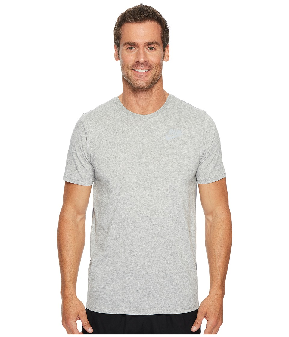 Nike Dry Running T-Shirt (Dark Grey Heather) Men