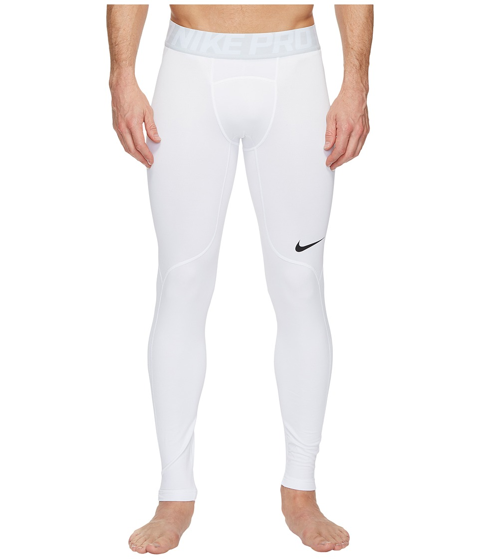 Nike Pro Hyperwarm Training Tight (White/Wolf Grey/Black) Men