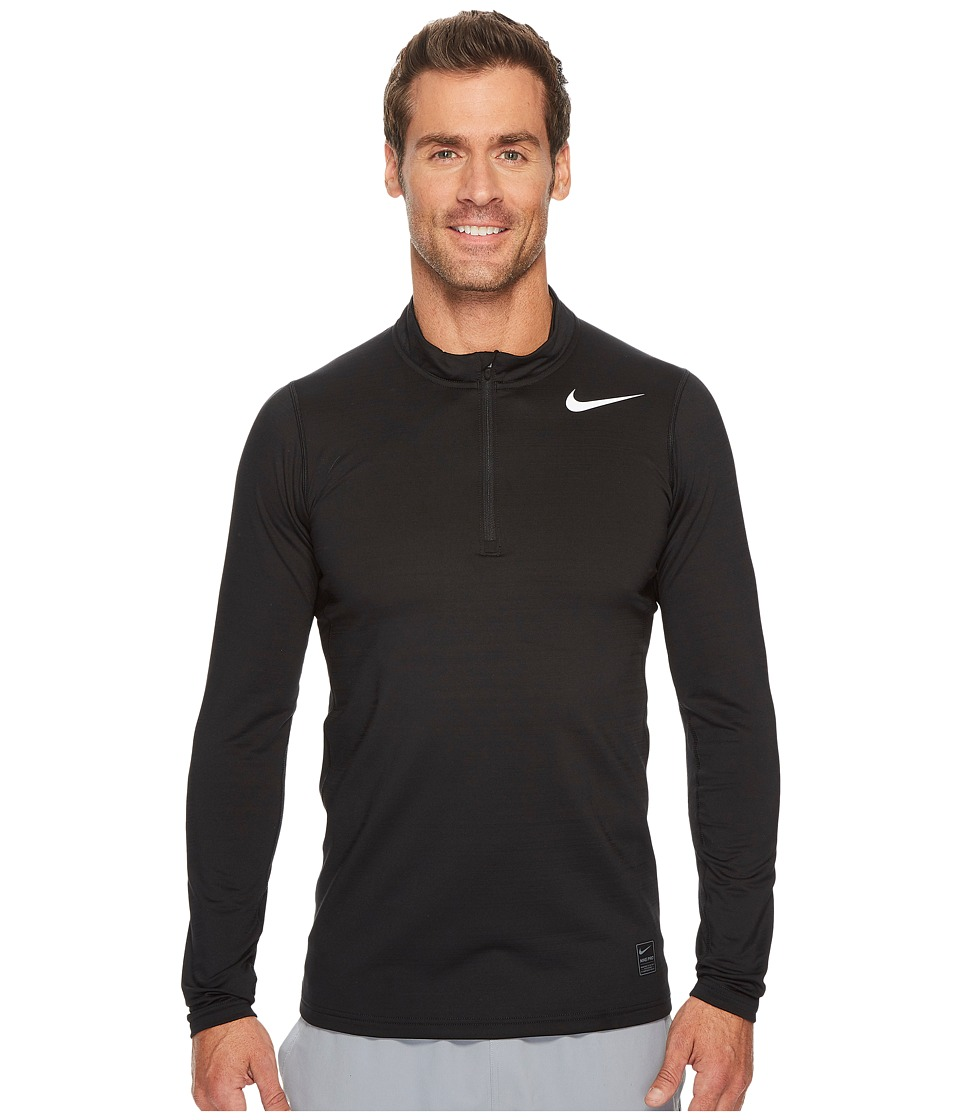 Nike Pro Warm 1/4-Zip Top (Black/Cool Grey/White) Men
