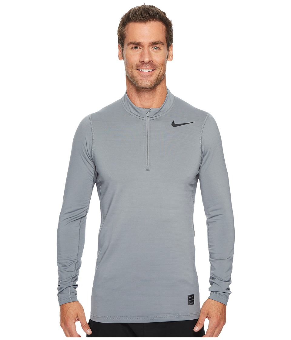 Nike Pro Warm 1/4-Zip Top (Cool Grey/Hyper Crimson/Black) Men