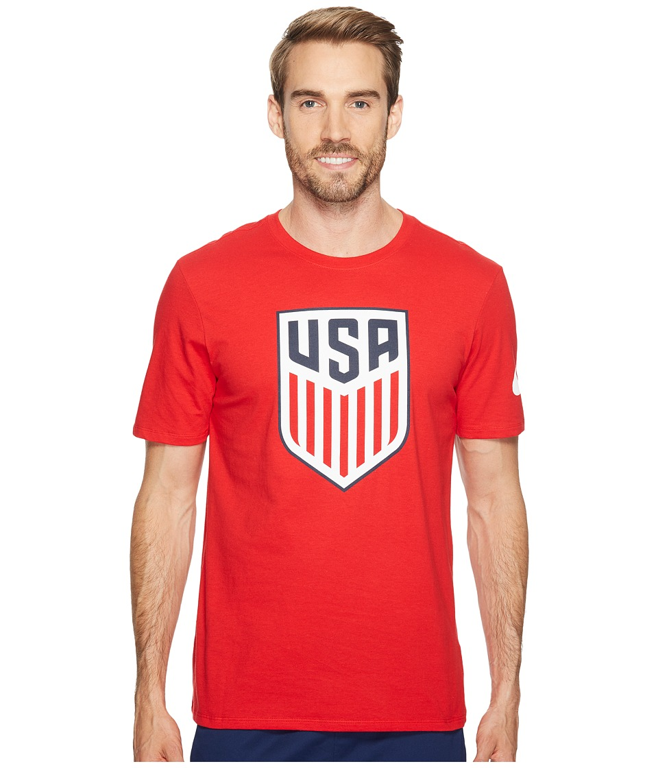 Nike USA Crest Tee (University Red/University Red) Men